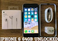 Gray Iphone 6 Regular 64GB UNLOCKED w/ Accessories Arlington