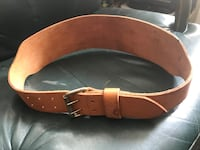 Leather belt for heavy lifting Toronto, M3J 2X7