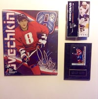 Set of Ovechkin Collectible Plaques and Star Stick in Hinged Tube