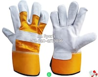 Yellow 707 Leather Gloves,yellowcolors, redcolors, Turkey gloves, United Kingdom gloves, gloves, makers, maker