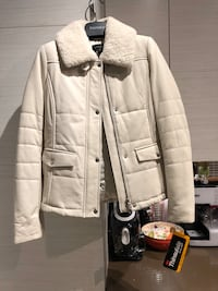 NEW WOMENS DANIER WHITE LEATHER JACKET - With TAGS Toronto, M8W