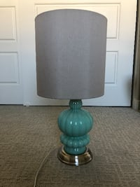 Tiffany Blue Glass Table Lamp