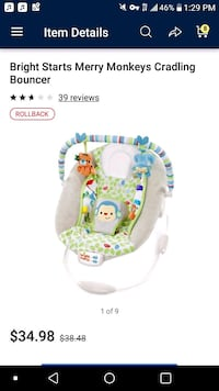 Infant bouncer only used once  Orlando, 32804