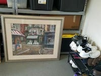 painting of store in gray frame wall decor Oviedo, 32765