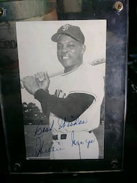 Autogragh photo of a willie mays .