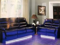 Black Friday Sale! Reclining Sofa & Loveseat With L.E.D Accent Light New York, 11435