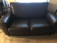 black leather 2-seat sofa Silver Spring, 20902