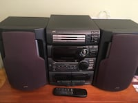JVC 3 CD player /2 cassette with speakers & remote...80 watts per channel. Vaughan, L4H 1G5