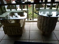 Lamp tables glass