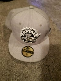 white and black fitted cap Edmonton, T5Y 1H9