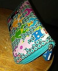 teal multi-colored clutch wallet Newport, 02840