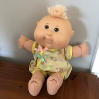 Cabbage Patch Kids Baby Doll Wearing Cute Teddy Bear Outfit