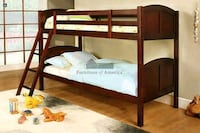 Twin over Twin Bunk Bed with Mattresses  Ontario
