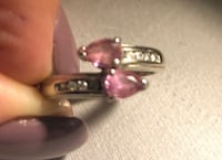 14 kt white gold diamond & pink sapphire ring  paid over 1500 Surrey, V4N 6A2
