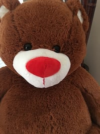 Brown and white bear plush toy (Oversized)