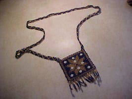 Hand Made Star Seed Bead Flapper Necklace