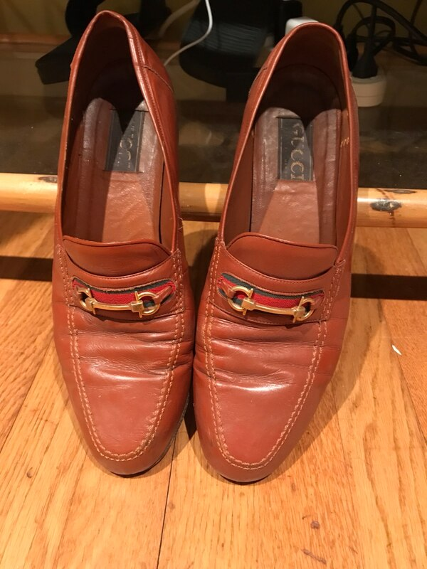 09c8c8e1614 Used pair of brown Gucci leather horsebit loafers for sale in ...