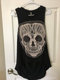 black and gray skull print tank top Washington, 20008