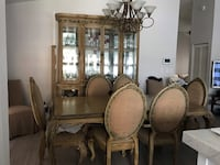 brown wooden dining table set Miami, 33177