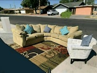 Beautiful Microfiber Sectional ( Same Day Delivery Las Vegas, 89121