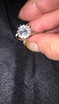 New 925 silver cz diamond ring
