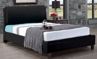 UPHOLSTERED BED - INCLUDES MATTRESS SUPORT
