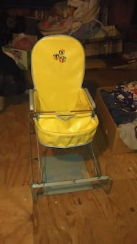 1940 antique baby high chair gluider