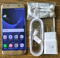 Gold Galaxy S7 Edge 32GB UNLOCKED w/ Accessories  Arlington