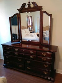 brown wooden dresser with mirror Austin, 78717