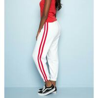 Brandy Melville White sweatpants with red stripe Pointe-Claire, H9R 3Z3