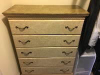 brown wooden 5-drawer chest Simi Valley, 93065