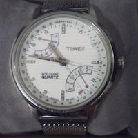 round silver-colored analog watch with black leather strap Ormond Beach, 32176