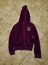 Girls toddler purple velour jacket size 6-6x like  Toms River, 08753