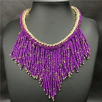purple and gold beaded necklace Silver Spring, 20903