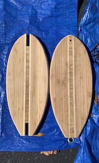 Surfboard cutting boards two