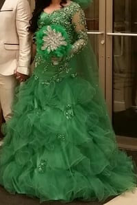 Party/bridal green gown Toronto