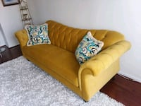brown fabric sofa with throw pillows Baltimore, 21217
