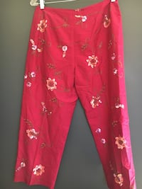 Silk Embroidery Sequin Pants Size 8 San Francisco, 94121