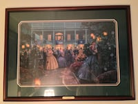 Moonlight and Magnolias by Mort Kunstler. Framed lithograph. Certificate of Authentication  Manassas, 20110