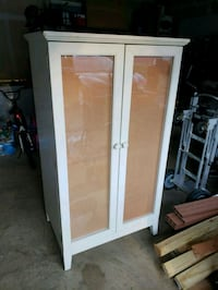 Tv or craft cabinet with corked shadow box doors