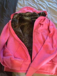 Pink fur lined Victoria's Secret sweatshirt Sutton, 01590