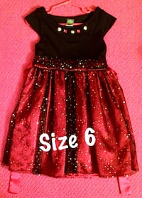 toddler's size 6 red and black cap-sleeved dress