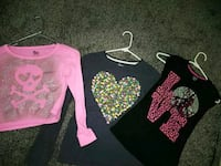 All size 7/8 pink skull, heart, love shirt Galloway, 43119