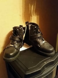 pair of black leather boots Tulsa, 74134