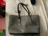 black and gray leather tote bag San Diego, 92113