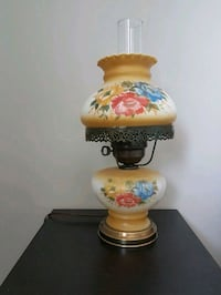 white and red floral ceramic table lamp Edmonton, T5T