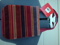 Maroon Striped Tote Bag - New! Moore