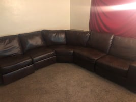 Brown sectional couch chargers phone also comes apart