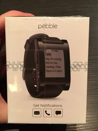 Svart Pebble Smart Watch