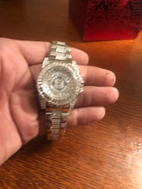 Bling Croton Silver Watch with CZ Evans, 30809